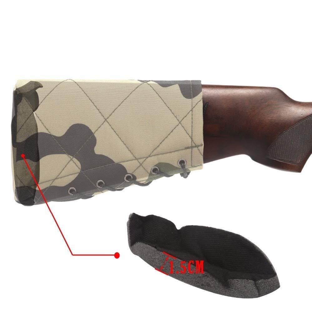 Almohadilla de Retroceso de Caza Escopeta Antideslizante Culata Descanso de mejilla Protector de Esponja Accesorios de Pistola Ajustable de Nylon LSB-Hunting