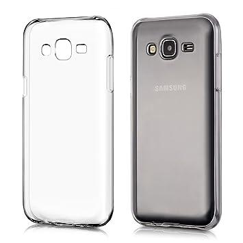 kwmobile Funda compatible con Samsung Galaxy J5 (2015) - Carcasa de [TPU] para móvil - Cover [trasero] en [transparente]