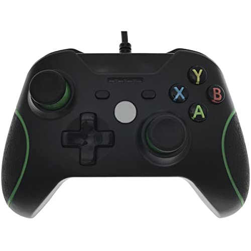 Whiteoak Xbox One Controller, USB Wired Gamepad Game Joystick Joypad with Full Vibration for Xbox One S, X, Steam, PC(Windows XP/7/8/10), PS3, Android - Black