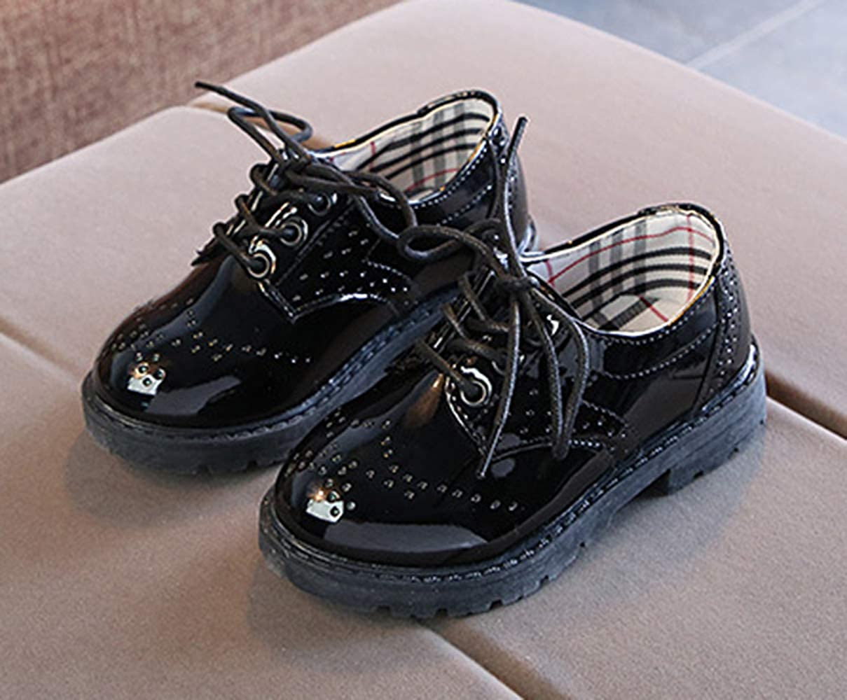 Toddler//Little Kid//Big Kid Lnafan Kids/' Boys/' Girls/' Brogue Lace-Up Oxfords School Uniform Dress Shoes
