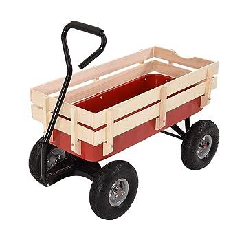 Britoniture Garden Wagon Pull Cart Pull Along Festival Trolley Kids