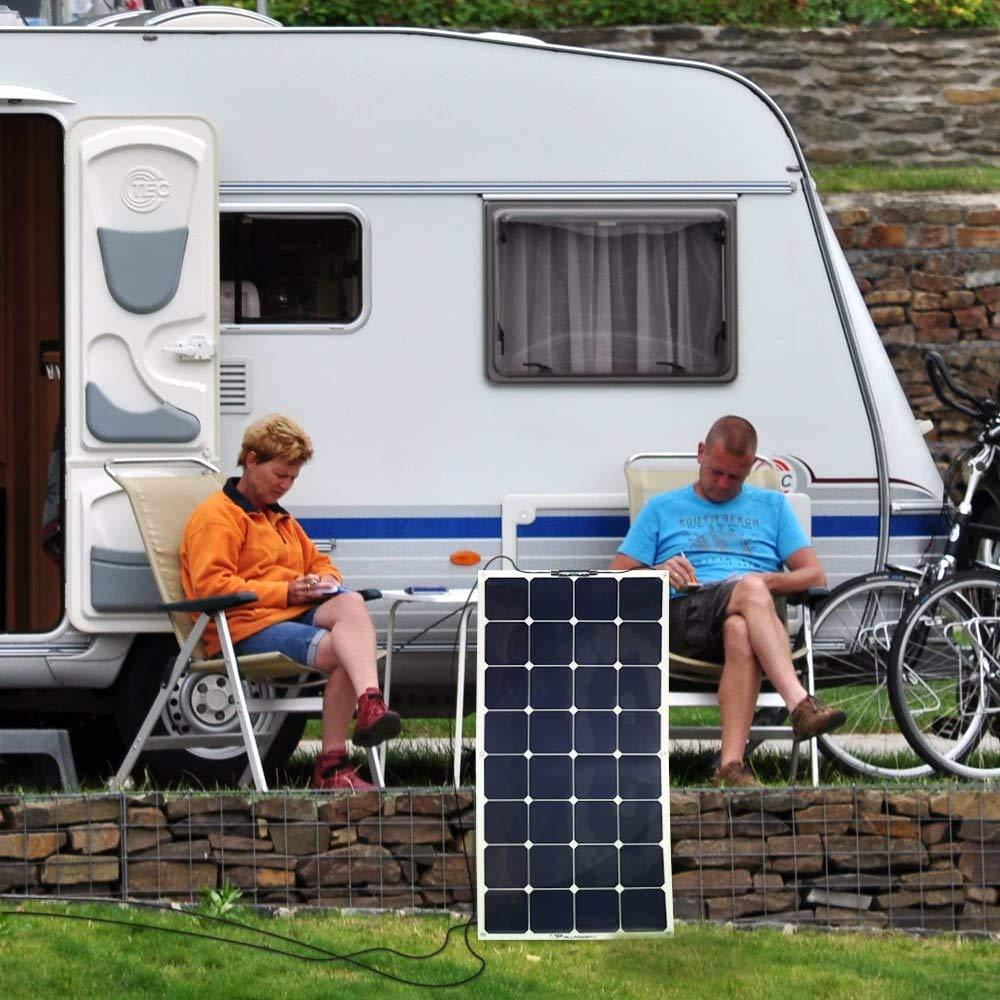 18 V ideale come pannello solare per camper da 160 W barca Luckywing pannello solare monocristallino casa da giardino