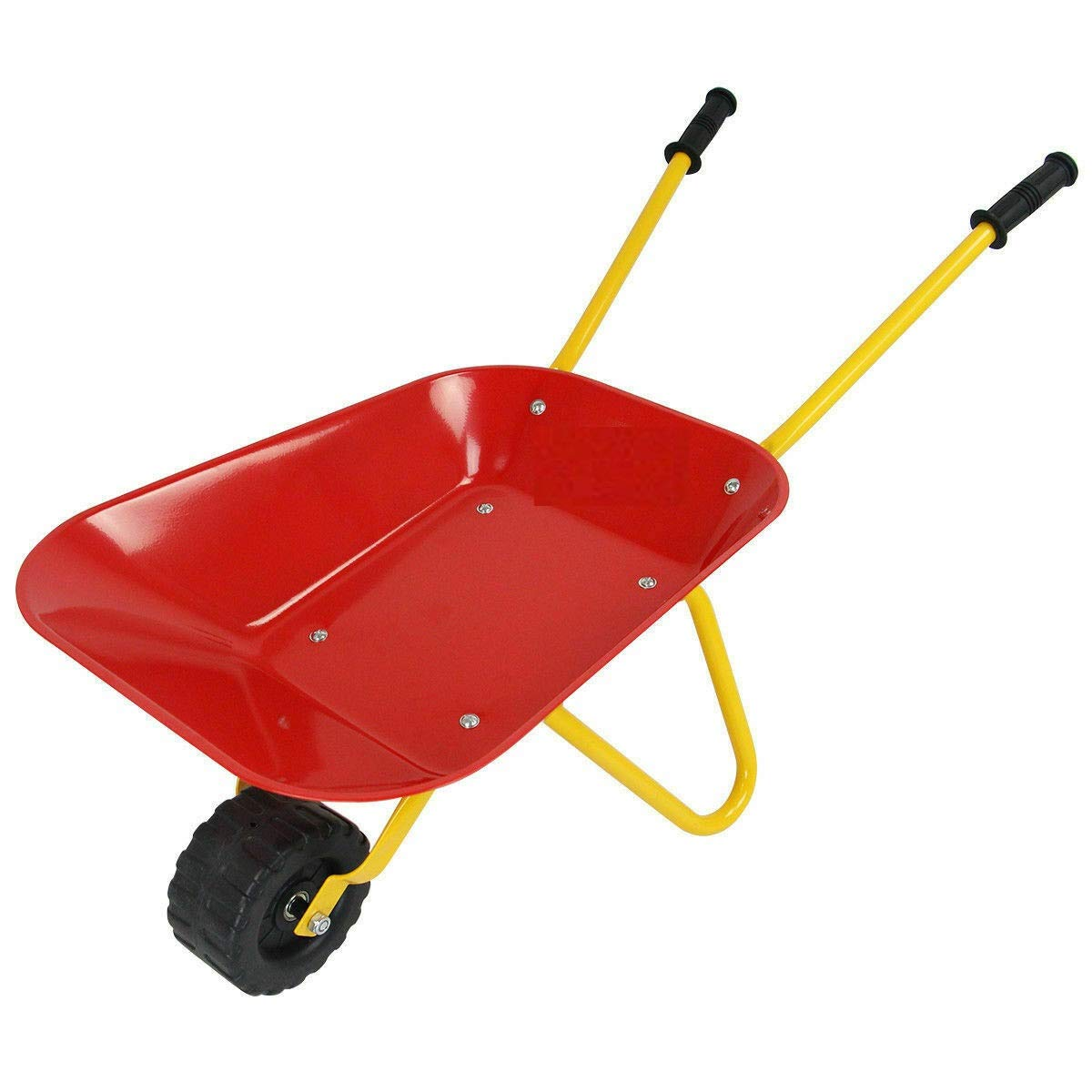 Heize best price Red Kids Metal Wheelbarrow Children's Size Outdoor Garden Backyard Play Toy by Heize best price (Image #7)