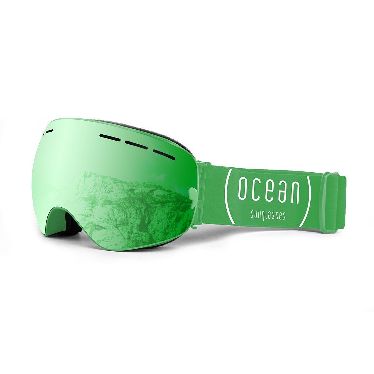 Ocean Sunglasses Cervino - Masque - Monture : Vert - Verres : Revo Vert (YH-3105.1) ueVebWFtL6
