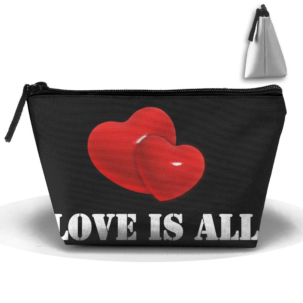 HGUII-O Love Is All Makeup Bag Cosmetic Pouch Travel Bag With Zipper Closure For Women Girls
