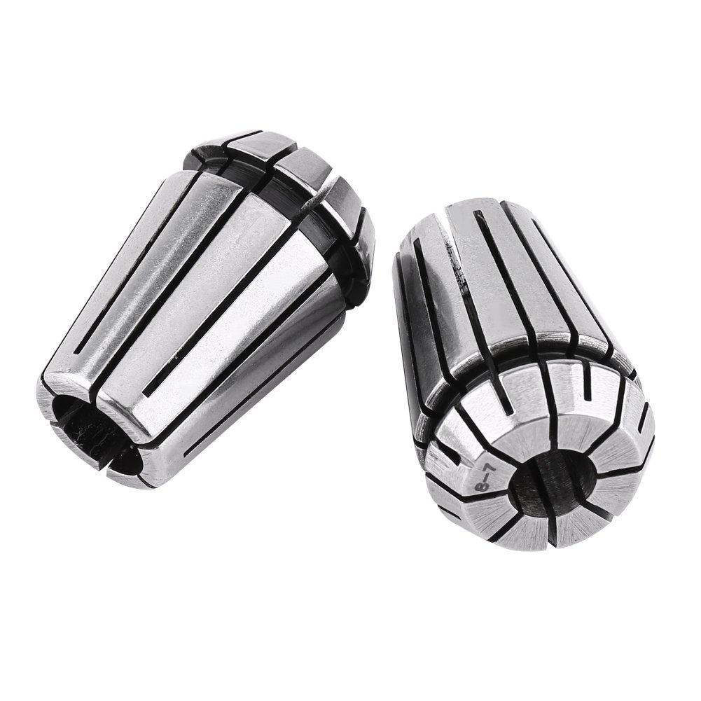 5mm 8mm Lot de 10Pcs ER20 Assortiment Serrages /à Ressort Mandrin /à Pince CNC Outil Machine Fraisage Gravure avec Haute Pr/écision 3mm 6mm 1//4 4mm 12mm 1//2 1//8 10mm