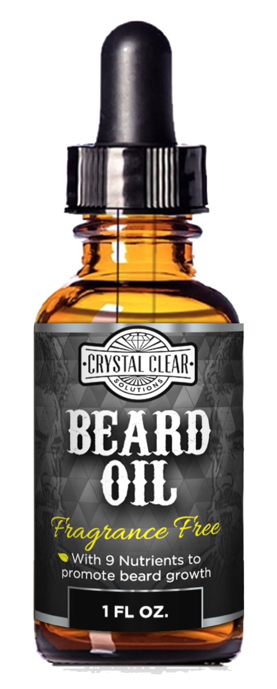 CCS Beard Oil Growth for Men, Leave-In Conditioner Softener for Dry and Sensitive Facial Hair, Unscented 1 oz Crystal Clear Solutions