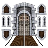Club Pack of 108 Castle Door, Draw Bridge, Window Wall Decorations 16'' - 70.5''