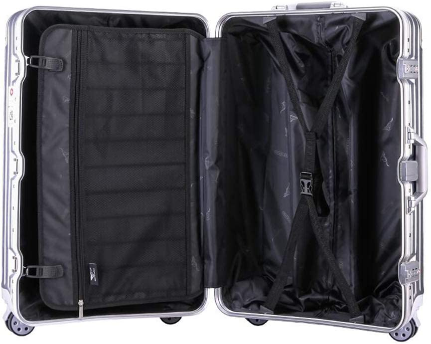 Qzny Suitcase Color : A, Size : 55.541.524.5cm Trolley Case Travel Bag Waterproof College Students Aluminum Frame Suitcase Luggage Box Men Women Universal Wheel Ultra Light