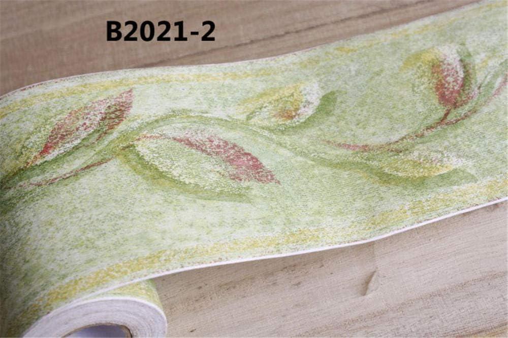 ba/ño Borde del papel pintado amarillo Auto Adhesivo del Papel Pintado del PVC Cenefa autoadhesiva para decoraci/ón de pared de cocina