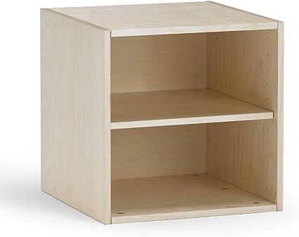 traturio - Estantería en Forma de Cubo (Abedul, Chapa de ...