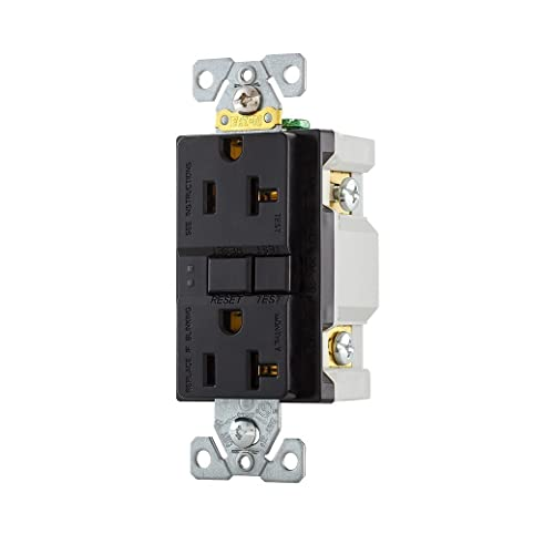 10 pack cooper wiring devices sgf20bk 20 amp 125v gfci self test rh amazon com Wiring Outdoor GFCI Outlets Wiring GFCI Outlet without Ground Wire