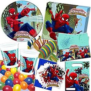 101 Juego de set de fiesta * Ultimate Spiderman Web Warriors ...