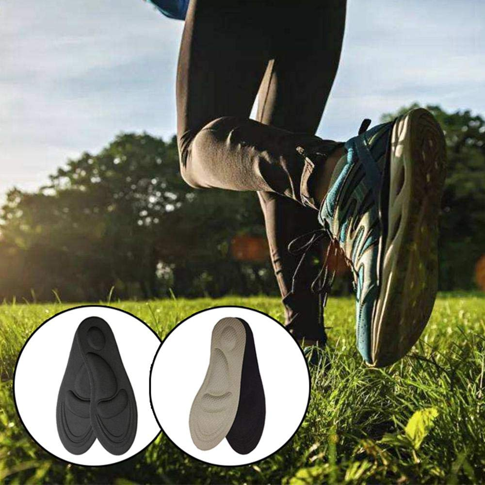 FOONEE 4D Arch Support Einlegesohlen Diabetischer Anti-Sweat-Schaum Komfortsohle F/ür M/änner Und Frauen Hilfe Gegen Plantarfasziitis Mittelfu/ß- Und Fersenschmerzen