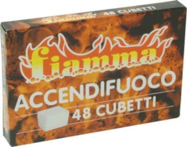 ACCENDIFUOCO BIANCHI PER ACCENSIONE STUFE CAMINI BARBECUE FORNI A LEGNA TOTALE 1152 CUBETTI 24 CONFEZIONI DA 48 CUBETTI