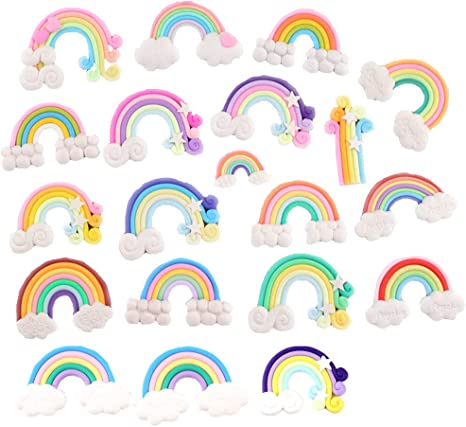 Unicorn Resin FlatBack Cabochon 70 pcs Kawaii Embellishment Mix Craft Rainbow