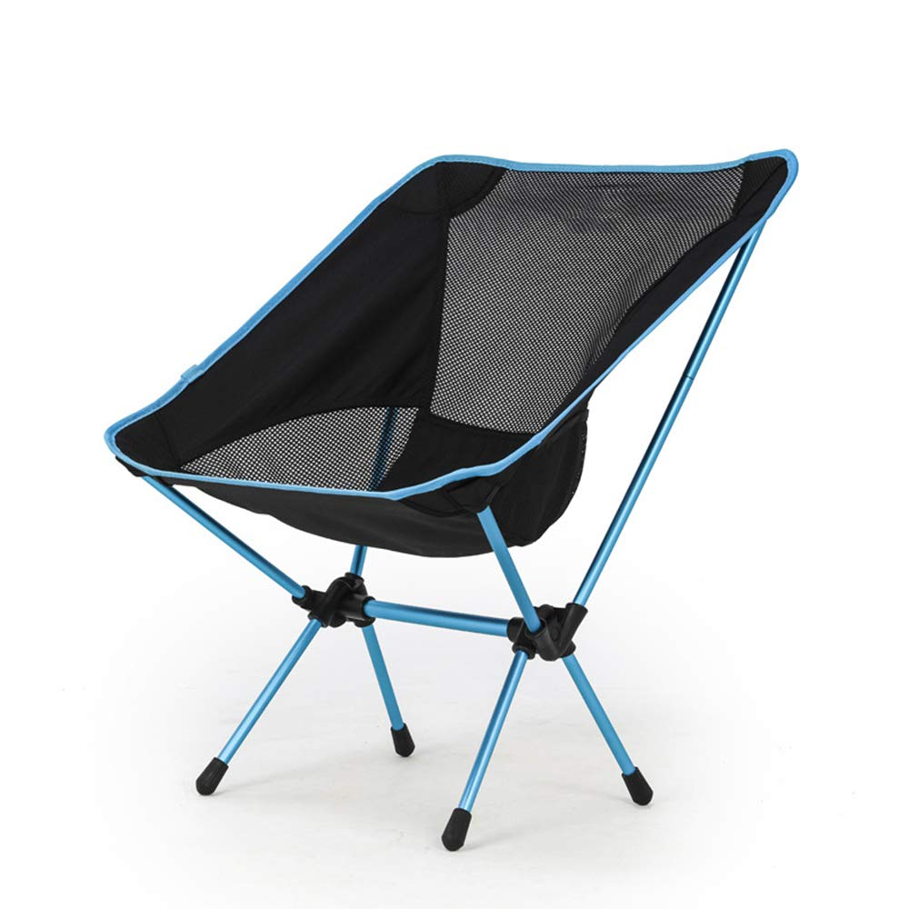 ZHANGJN Outdoor Folding Camp Chairs Lightweight Aluminum Backpack Chair with Carry Bag for Fishing, Festival, Beach, Hiking-Blue by ZHANGJN