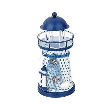 Gazechimp Leuchte Leuchtturm Mit LED Tisch Garten Dekoration Maritime Typ