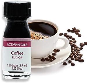 LorAnn Coffee Super Strength, Natrual Flavor, 1 dram bottle (.0125 fl oz - 3.7ml)