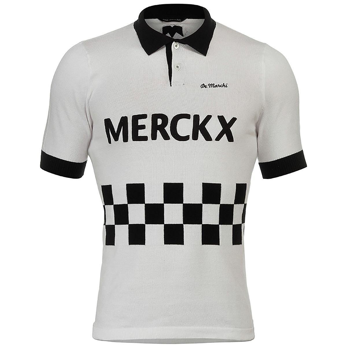 De Marchi Blockhaus 67コットンPolo Jersey – Men 's XL ホワイト/ブラック B072Q1G5MK