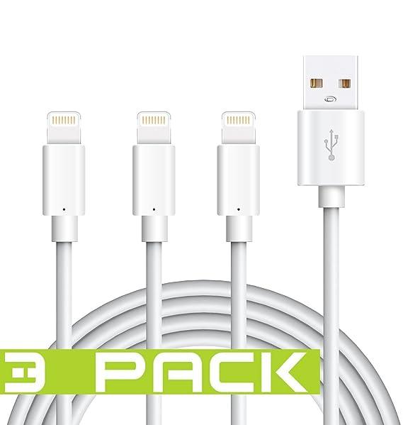 Cable Lightning para iPhone, certificado Tricon de 6 pies/2 ...