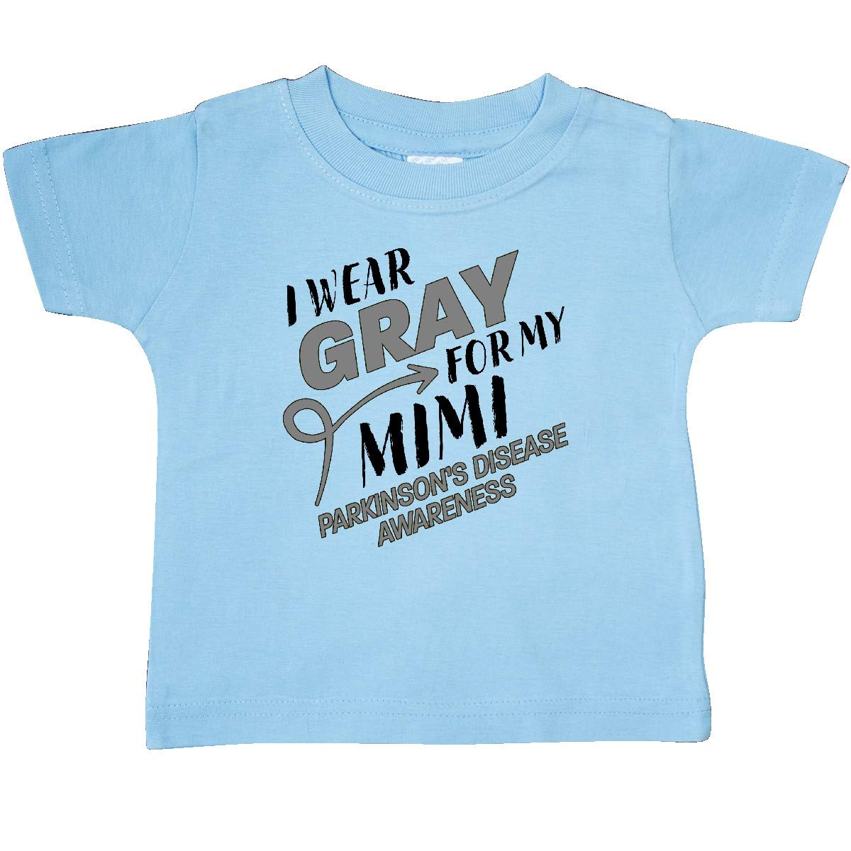 Parkinsons Disease Awareness Baby T-Shirt inktastic I Wear Gray for My Mimi