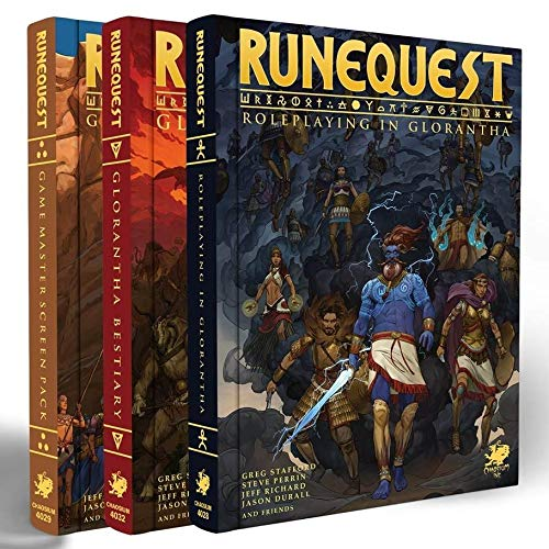 RuneQuest: Roleplaying in Glorantha Deluxe slipcase set by RuneQuest Chaosium