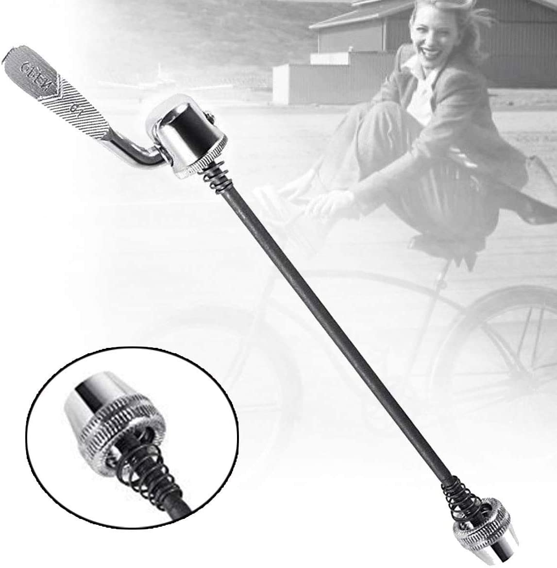Pair Bike Bicycle Cycling Wheel Hub Skewers Quick Release Bolt Lever Axle H1