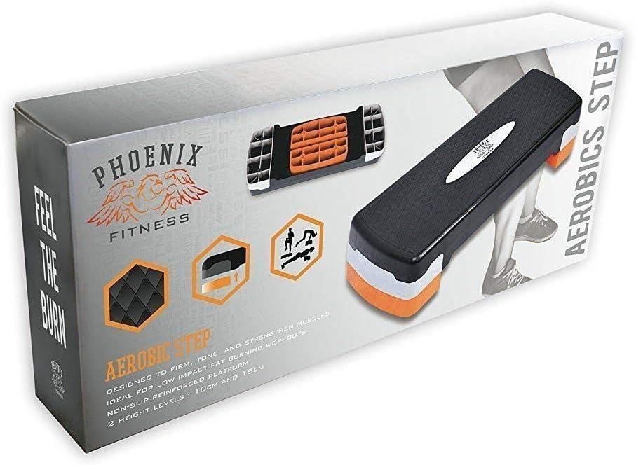 SALE Mirafit Black//Orange Adjustable Aerobics Step Platform Board//Exercise #731