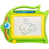 Amesii Magnetic Drawing Board Sketch Pad Doodle Writing Craft Art for Children Kids - Random Color Style