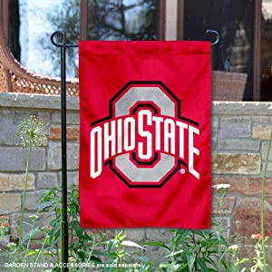 OSU Buckeyes Red Garden Flag and Yard Banner