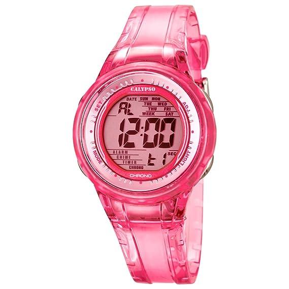 Calypso de mujer reloj de pulsera Sport Cronógrafo de cuarzo reloj pu rosa d1uk5688/2