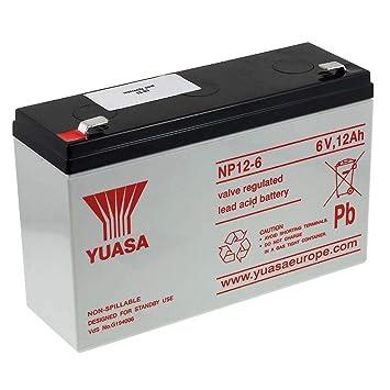 YUASA Batería de Plomo-ácido NP12-6 Vds