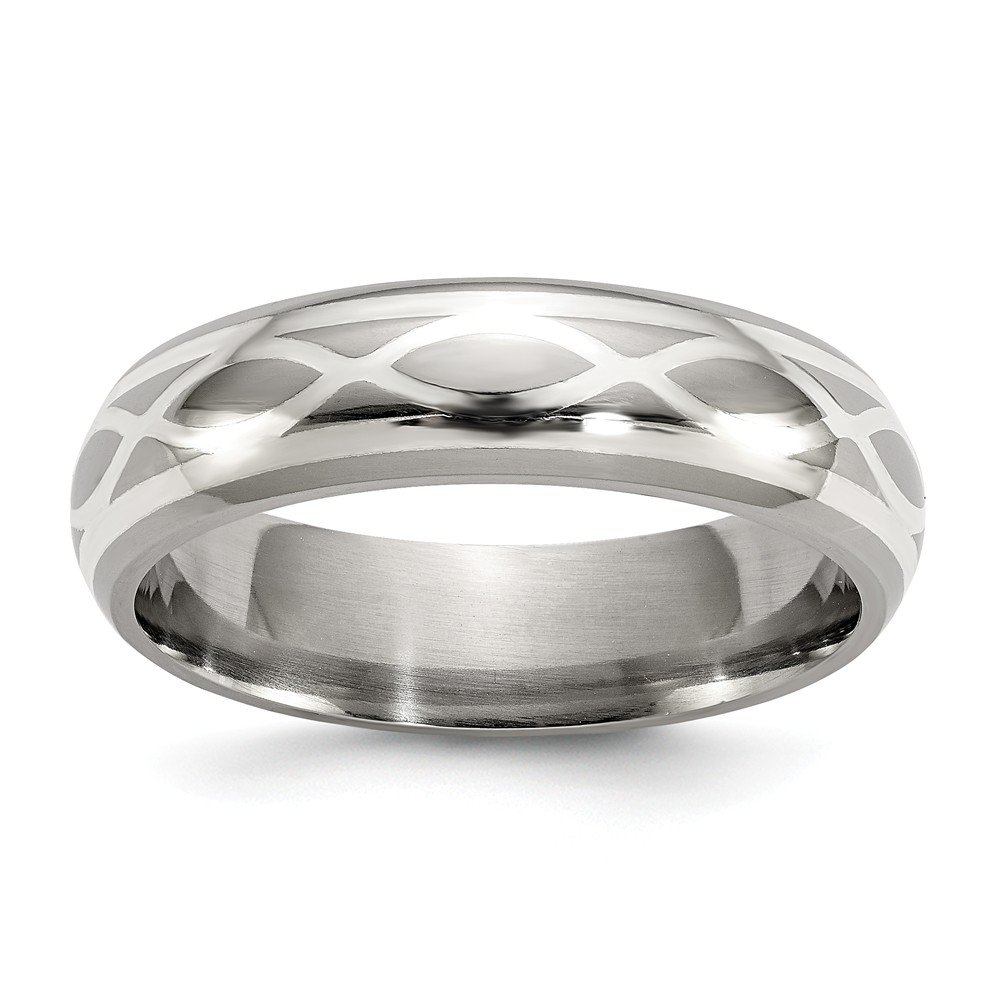 Top 10 Jewelry Gift Edward Mirell Titanium & Sterling Silver Brushed & Polished Infinity Ring