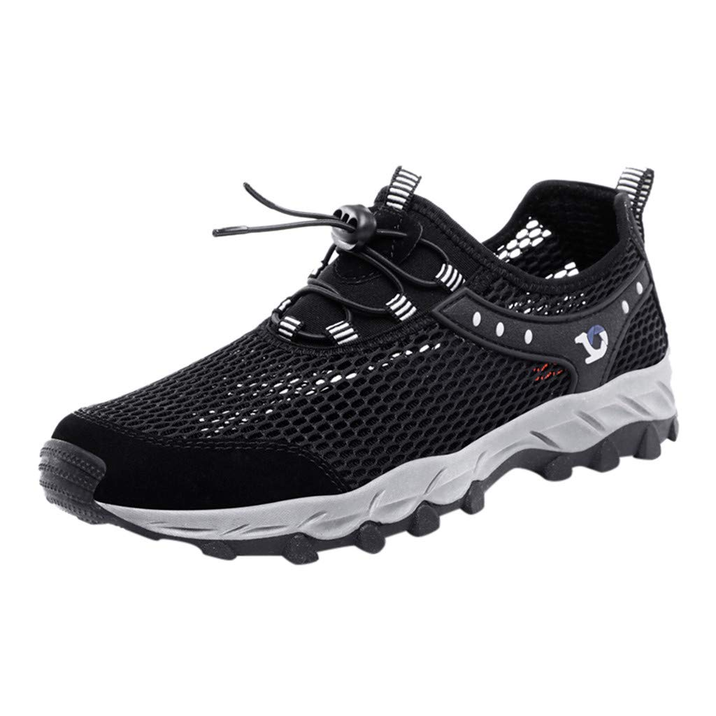 Hiking Shoes Men Lightweight Breathable Non-Slip Hollow Mesh Shoes Climbing Upstream Anti-Skid Sneakers