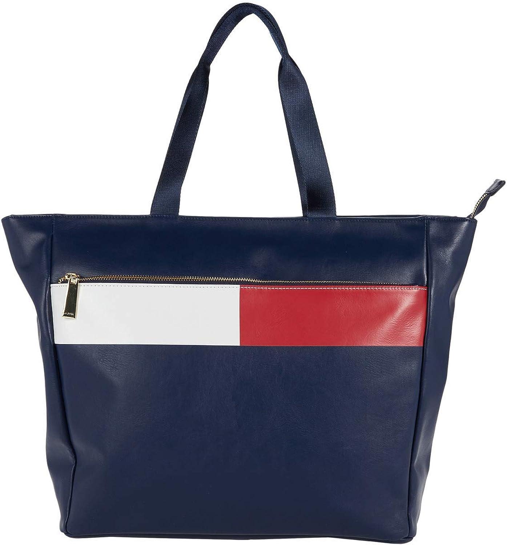 Tommy Hilfiger Sirina 1.5 - Bolso de mano, diseño de bandera de PVC liso, Azul marino (Tommy Navy), Talla única: Amazon.es: Zapatos y complementos