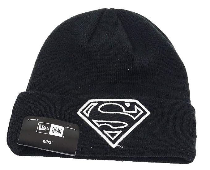bf6ff4b5e33 Amazon.com  New Era Glow in The Dark Knit Superman Child Beanie ...