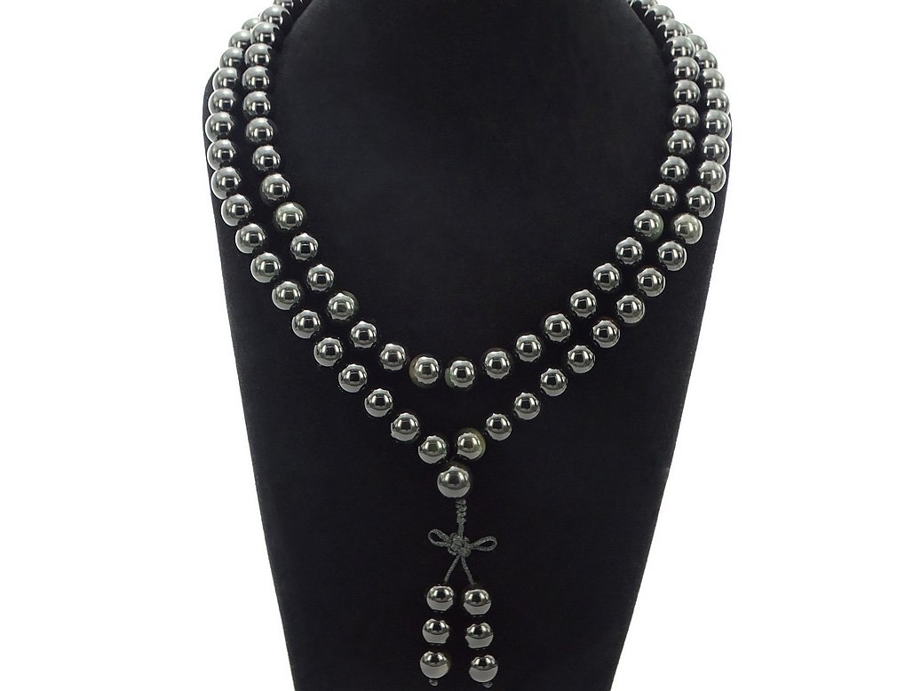 inches jennysun2010 Natural 10mm African Turquoise Gemstone Buddhist 108 Beads Prayer Mala Long Necklace Multi-Purpose about 43