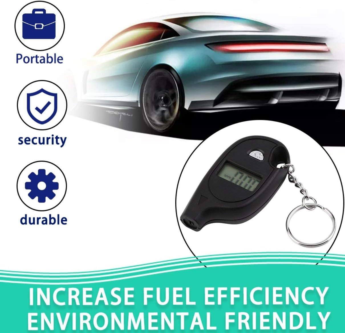 Yukiko Keychain LCD Digital Tire Tyre Air Pressure Gauge for Car Auto Motorcycle