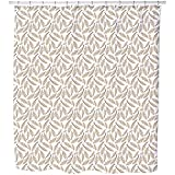 Uneekee Soft Pillow Feathers Shower Curtain: Large Waterproof Luxurious Bathroom Design Woven Fabric