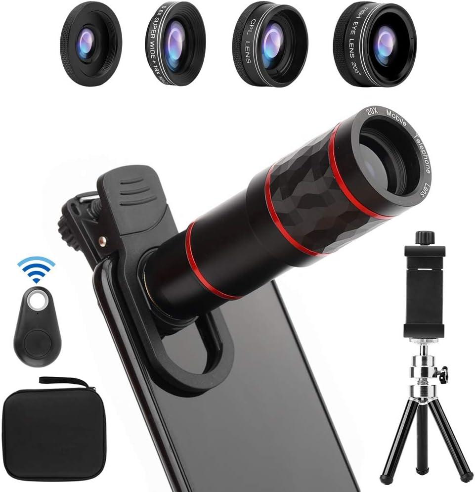 Kit de lentes para celulares 7 en 1 iPhone,teléfono Samsung