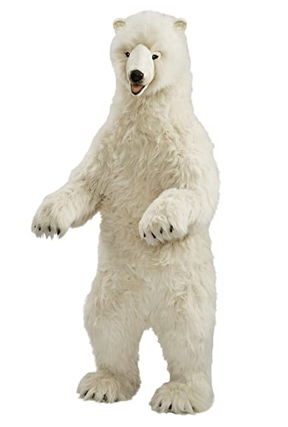 Amazon Com Hansa Life Size Standing Polar Bear Plush Stuffed Animal