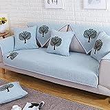 Z&HX Sofa/Sofa Cover/Sofa Sets/Sofa Throw/Sofa Towel/Sand Release/Sofa Pad/Sofa Thick/Sofa Slipcovers/Sofa Cushions/Plant Flowers/Flax/Import, 110180cm