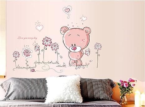 Walplus adesivi da parete con orsacchiotto per decorare la