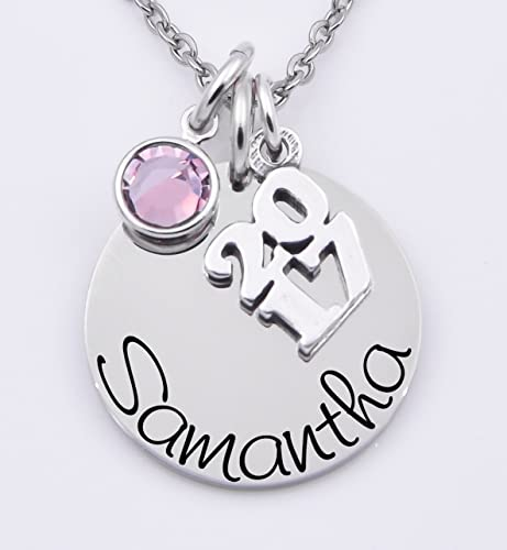 month graduation p necklace personalized with men year initial or women any birth watches and charm