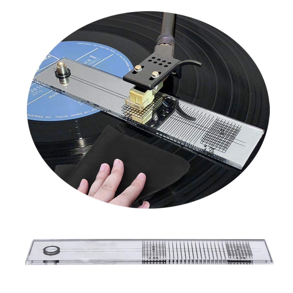 MJiang Tocadiscos fonógrafo cartucho de ajuste regla ...