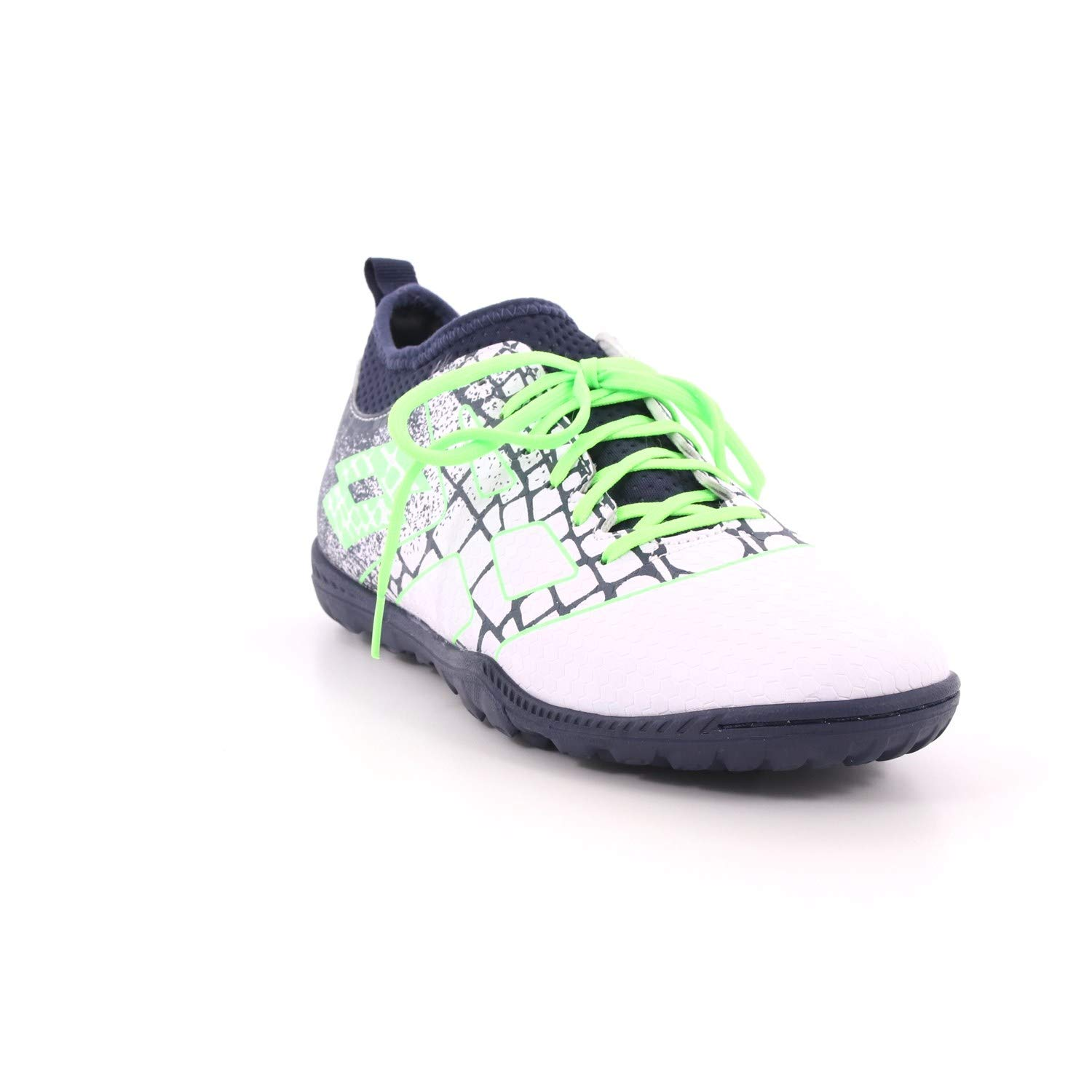 Lotto 211638 59H All White Spring Green Maestro 700 II TF Chaussures de Football