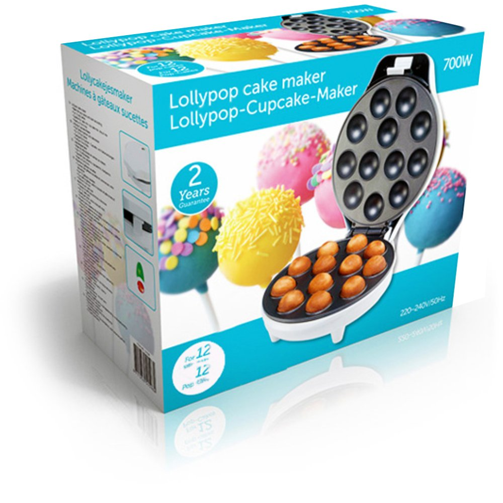 700W 12 piastre antiaderenti acciaio inox Macchina Sforna Tortini Cupcake Maker