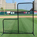 FORTRESS 7' x 7' Pitcher L-screen Frame & #42 Heavy Duty Net with 42'' Drop