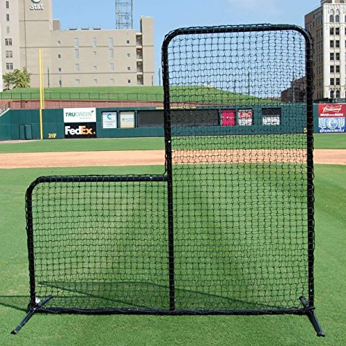FORTRESS 7' x 7' Pitcher L-screen Frame & #42 Heavy Duty Net with 42'' Drop by Net World Sports